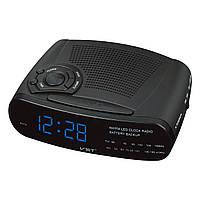Радио-будильник vst 906-5, электронные настольные часы, синяя светодиодная подсветка цифр, функция sleep