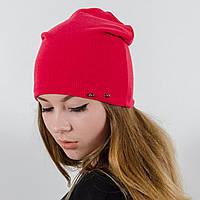 """Удлиненная двойная шапка  """"Пирсинг"""", Красный"""