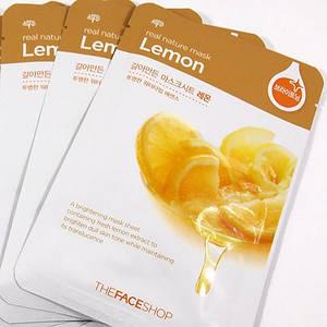 Тканевые маски для лица THE FACE SHOP Real Nature Mask Sheet lemon