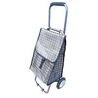 Хозяйственная сумка Тележка цветная на металлических колёсах для покупок