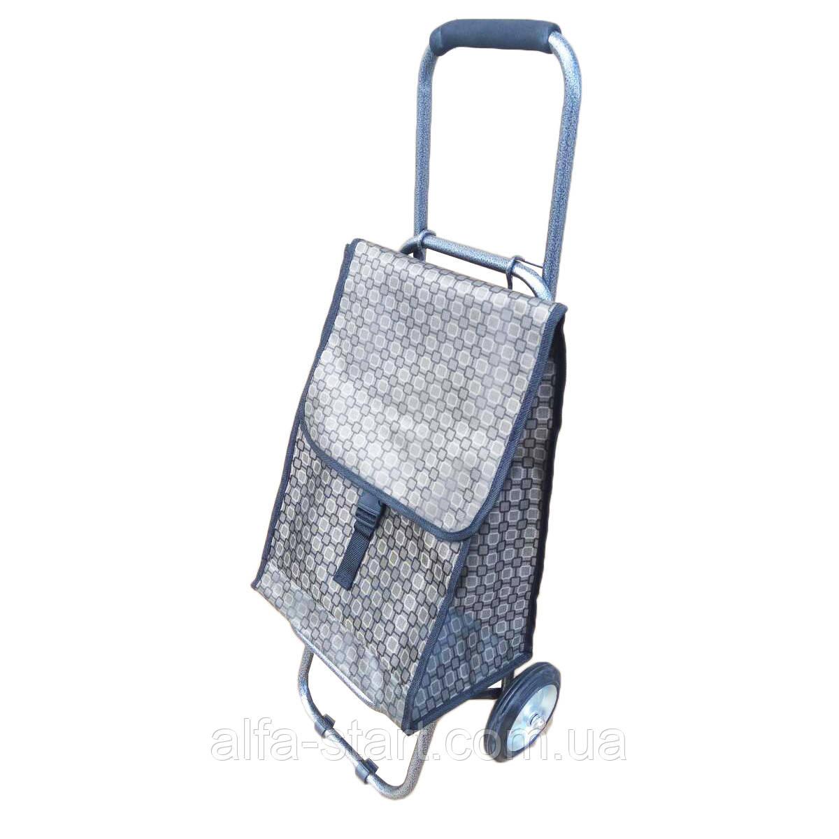 aa24d648fcd8 Хозяйственная сумка Тележка цветная на металлических колёсах для покупок,  фото 1