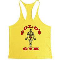 Спортивная майка Golds Gym, желтая