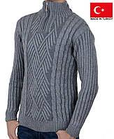 Уютный зимний мужской свитер.