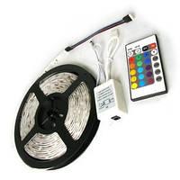 Гибкая светодиодная лента RGB  12v 3528/60, 5 м + комплект для подключения