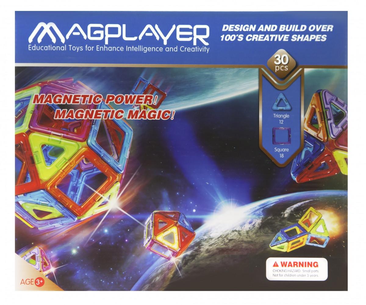 Простой и легкий детский конструктор MagPlayer MPB-30