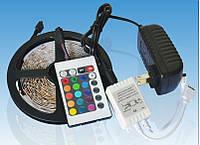 Светодиодная лента многоцветная RGB 3528 60LED 5 м + полный комплект для подключения