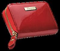 Лакированая кожанная визитница langres ls.820300-05 glaze красная