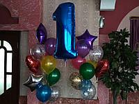 Композиция / фонтан из шаров №55 7+16