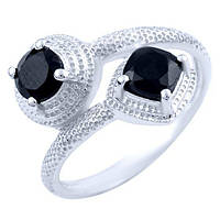 Серебряное кольцо с натуральным ониксом