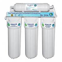 """Система 4-х ступенчатой очистки воды """"Bio+Systems"""" SL 204 с краником на мойку"""