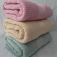 Однотонное большое махровое полотенце для сауны. Размер 180*0.95