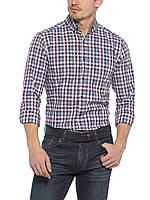 Мужская рубашка LC Waikiki / ЛС Вайкики в бело-серо-синие полоски, фото 1
