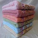 Банное  качественное  махровое полотенце с вышитыми бабочками  Размер 140*70., фото 3