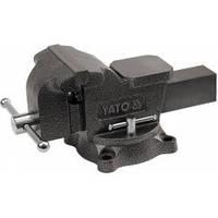 Тиски слесарные  поворотные 125 мм 10 кг тип тяжелый Yato YT-6502