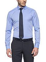 Мужская рубашка LC Waikiki небесного цвета в мелкий горошек