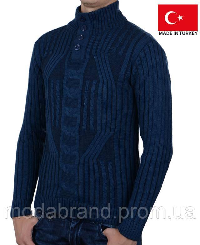 8f84e695a Мужской свитер полустойка на пуговицах .Состав-50% шерсть,50%-акрил,. Производитель-Турция.Размеры-,L.XL.Цвета-,темносиний,светлосерый,черный.