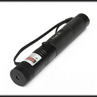 Зеленая лазерная указка с насадкой, разные режими, 500 mW, дальность свечения 5000 км