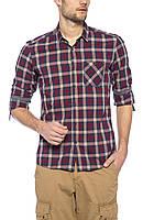 Мужская рубашка LC Waikiki серого цвета в красную клетку