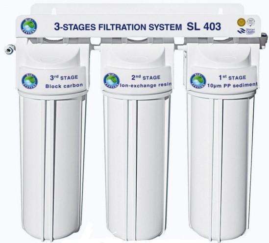 """Система 3-х ступінчастого очищення води """"Bio+Systems"""" SL 403 (очищення+пом'якшення) з краником на мийку"""
