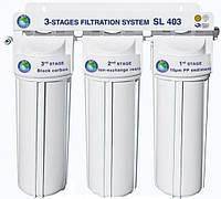"""Система 3-х ступенчатой очистки воды """"Bio+Systems"""" SL 403 (очистка+умягчение) с краником на мойку"""