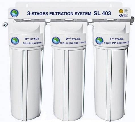 """Система 3-х ступінчастого очищення води """"Bio+Systems"""" SL 403 (очищення+пом'якшення) з краником на мийку, фото 2"""