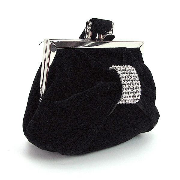 4c0cfdd47b91 Велюровый вечерний клатч-кошелек черный маленький - Интернет магазин сумок  SUMKOFF - женские и мужские