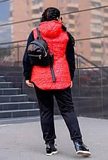 Демисезонная куртка больших размеров Прага красная, фото 2