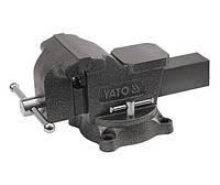Тиски слесарные  поворотные 150 мм 15 кг тип тяжелый Yato YT-6503