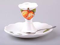 """Подставка под яйцо с блюдцем и ложкой """"Primavera"""" от Nuova Cer 612-134, фото 1"""