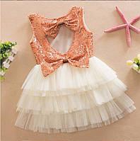 Платье нарядное в паетках для девочки .
