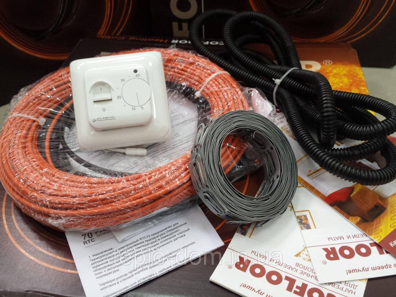 Тонкий кабель 4мм  Fenix (Комплект с механическим  регулятором) 3.4  м.кв