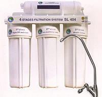 """Система 4-х ступенчатой очистки воды """"Bio+Systems"""" SL 404 (очистка+умягчение) с краником на мойку"""