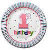 Тарелочка Первый день рождения 18см
