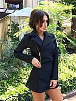 Женский комплект: пиджак-косуха и юбка