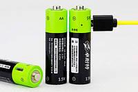 Аккумуляторная батарея с зарядкой через USB ТМ ZNTER, Тип AA - пальчиковая