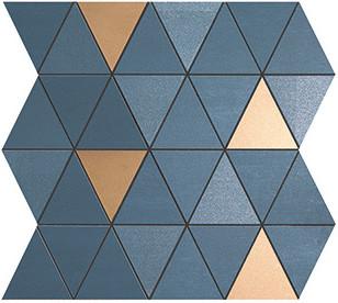 Мозаика Atlas Concorde Mek Blue Mosaico Diamond Gold Wall