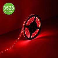 Герметичная красная лента GTV LED 3528 300 LED 24Вт 240Лм/м IP65, катушка 5м