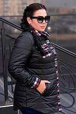 Черная куртка для полных женщин Агата, фото 2