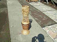 Больная напольная ваза плетеная из лозы