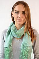 Шифоновый шарф с кистями Фиеста зеленый