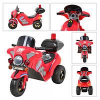 Мотоцикл ZP 9983-3 красный, 3км/ч, 3-8лет, 6V-15W-4,5AH, 100-43-65см