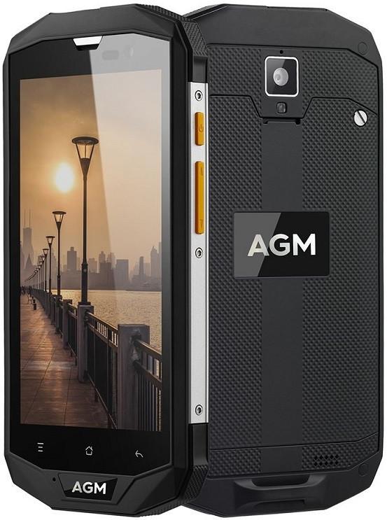 "Смартфон AGM A8 4/64Gb Black, 13/2Мп, 5"" IPS, 4G, 4050 маг, Snapdragon 410, 4 ядра"