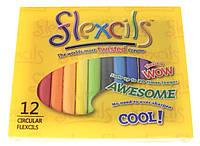 Flexcils. Гнучкі олівці (12  кольорів), циліндричні, 7.5 см