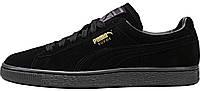 Женские кроссовки Puma Suede Classic Mono Iced Black (Пума замшевые) черные