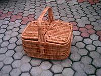 Корзина для пикника квадратная из лозы