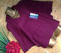Пуловер Пончо из шерсти 54544 бордо 44-52р