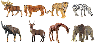 Фигурки и статуэтки диких животных