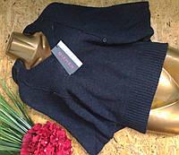 Пуловер Пончо из шерсти 54544 графит 44-52р