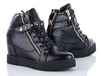 Модные демисезонные женские ботинки сникерсы оптом от производителя GFB K06 (6 пар,36-41)
