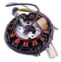 Статор (генератор) на скутер 4T GY6 125/150 см3, (10+1 катушек)